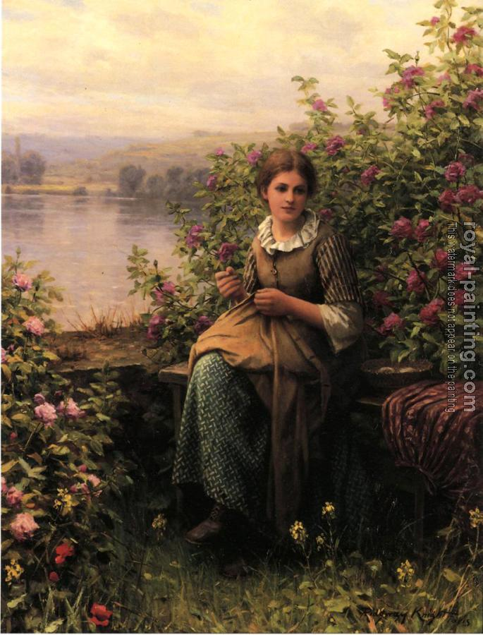 Daniel Ridgway Knight : Mending